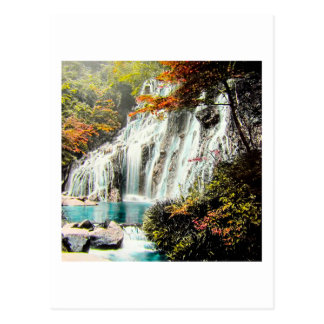 TAKAGI Glass Magic Lantern AMADARE WATERFALL Postcard