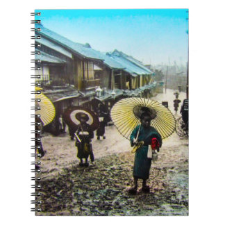 TAKAGI Glass Magic Lantern Slide School Children Notebook
