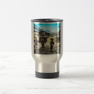 TAKAGI Glass Magic Lantern Slide School Children Travel Mug