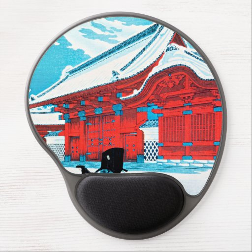 Takahashi - The Red Gate of Hongo in Snow Gel Mouse Pad