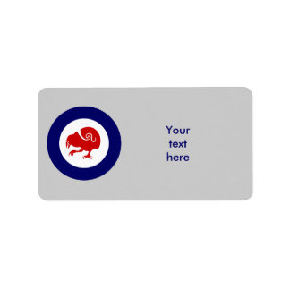 Takahe Air Force Roundel Label