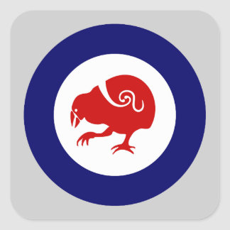 Takahe Air Force Roundel Square Stickers