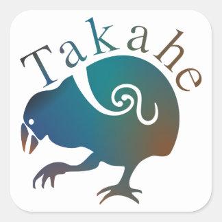 Takahe Flightless native New Zealand bird Square Stickers