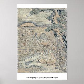 Takasago por Utagawa, Toyoharu Ukiyoe Poster