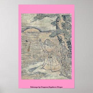 Takasago por Utagawa, Toyoharu Ukiyoe Posters