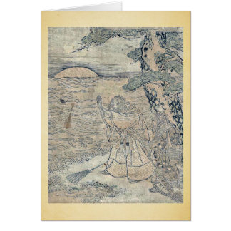 Takasago por Utagawa, Toyoharu Ukiyoe Felicitaciones