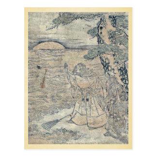 Takasago por Utagawa, Toyoharu Ukiyoe Tarjeta Postal