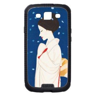 Takasawa Keiichi Large Snowflake japanese lady Samsung Galaxy S3 Cover