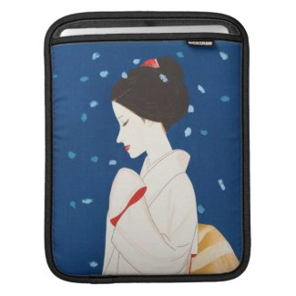 Takasawa Keiichi Large Snowflake japanese lady iPad Sleeve
