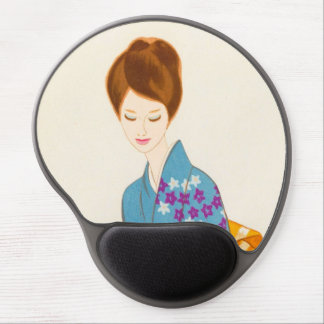 Takasawa Keiichi tender japanese lady portrait art Gel Mouse Pad