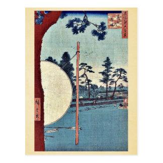 Takata riding grounds by Ando, Hiroshige Ukiyoe Post Card