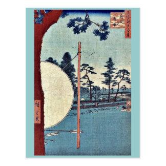 Takata riding grounds by Ando, Hiroshige Ukiyoe Postcards
