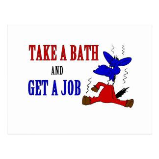 Take A Bath And Get A Job Postcard