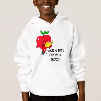 Take a bite from a book hoodie
