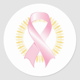 Take a bite out of breast cancer! classic round sticker