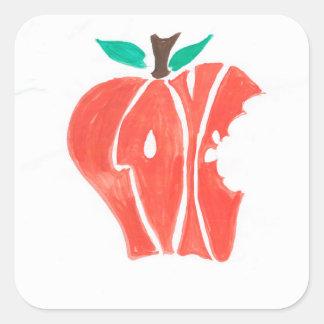 Take a bite out of love square sticker