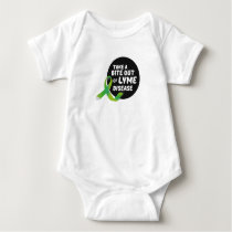 Take A Bite Out Of Lyme Disease Awareness Baby Bodysuit