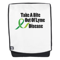 Take A Bite Out Of Lyme Disease Awareness Backpack