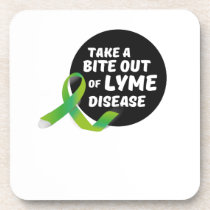 Take A Bite Out Of Lyme Disease Awareness Beverage Coaster