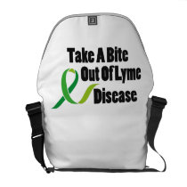 Take A Bite Out Of Lyme Disease Awareness Courier Bag