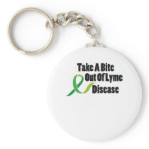 Take A Bite Out Of Lyme Disease Awareness Keychain