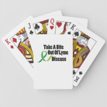 Take A Bite Out Of Lyme Disease Awareness Playing Cards