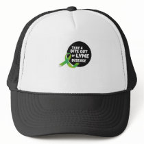 Take A Bite Out Of Lyme Disease Awareness Trucker Hat