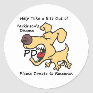 Take a Bite Out of Parkinson's Classic Round Sticker