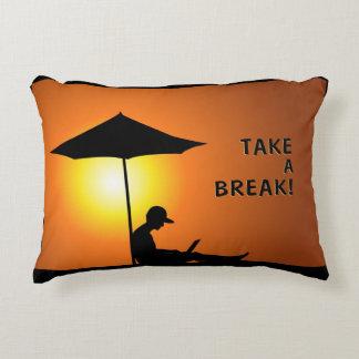 Take a Break! Accent Pillow