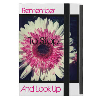 Take a break and smell the flowers iPad mini cover