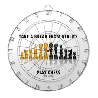 Take A Break From Reality Play Chess Dartboard With Darts