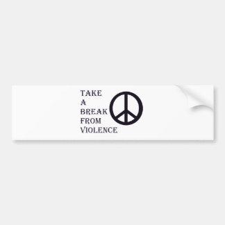 Take A Break  - Peace Bumper Sticker