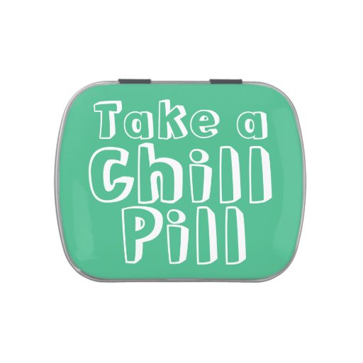 Take a Chill Pill Mint/Candy Container Jelly Belly Candy Tins