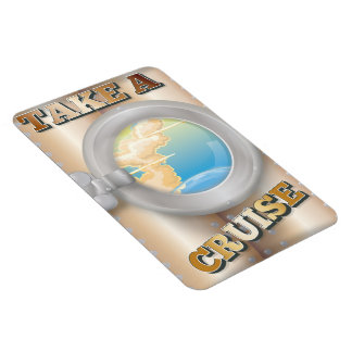 Take a Cruise cartoon travel poster Magnet