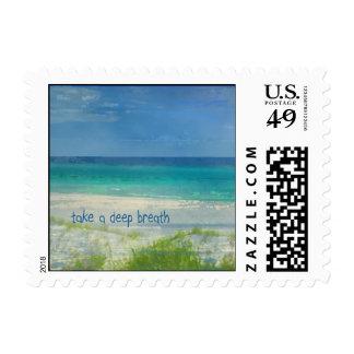 Take a Deep Breath Postage Stamp