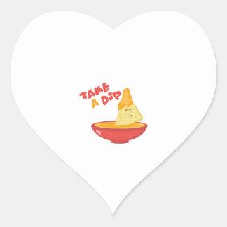Take A Dip Heart Sticker