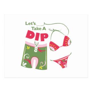 Take A Dip Postcard