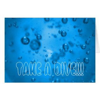 TAKE A DIVE!!! CARD