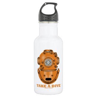 Take A Dive (Deep Diving Helmet Oceanographer) 18oz Water Bottle