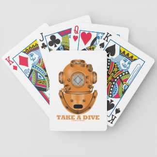 Take A Dive (Deep Diving Helmet Oceanographer) Bicycle Playing Cards