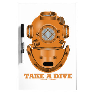 Take A Dive (Deep Diving Helmet Oceanographer) Dry-Erase Whiteboards