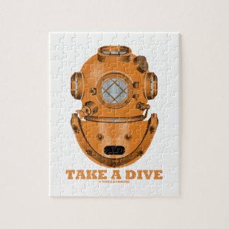 Take A Dive (Deep Diving Helmet Oceanographer) Jigsaw Puzzle