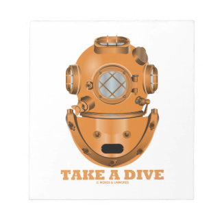 Take A Dive (Deep Diving Helmet Oceanographer) Memo Notepad