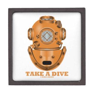 Take A Dive (Deep Diving Helmet Oceanographer) Premium Jewelry Box