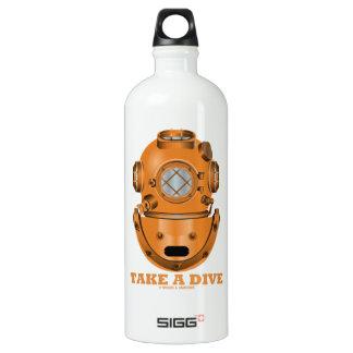 Take A Dive (Deep Diving Helmet Oceanographer) SIGG Traveler 1.0L Water Bottle