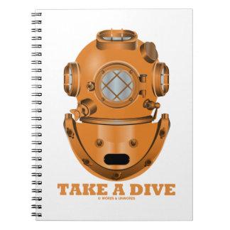 Take A Dive (Deep Diving Helmet Oceanographer) Spiral Notebooks