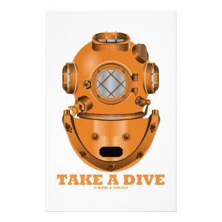 Take A Dive (Deep Diving Helmet Oceanographer) Stationery
