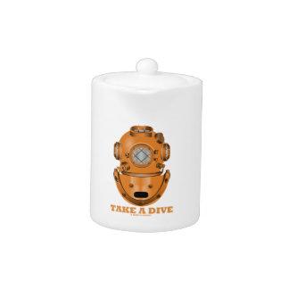 Take A Dive (Deep Diving Helmet Oceanographer) Teapot