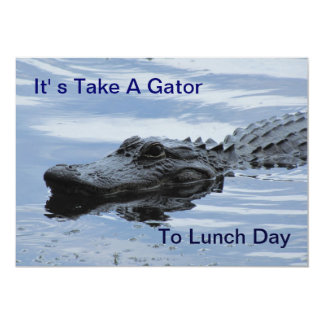 Take a Gator To Lunch Invitation