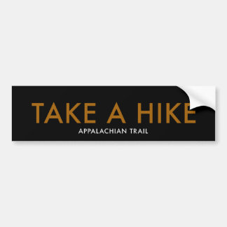 TAKE A HIKE - Appalachian Trail Bumper Sticker